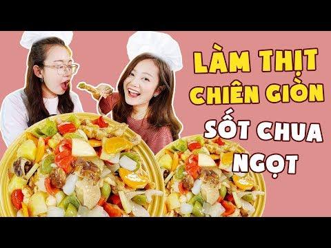 Vào Bếp Cùng Hải Yến : Lạ miệng thịt chiên giòn chua ngọt Hàn Quốc ! - Thời lượng: 10 phút.