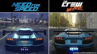 Need For Speed vs. The Crew Wild Run | Graphics & Weather Comparison, 2015 Open World Racing Games