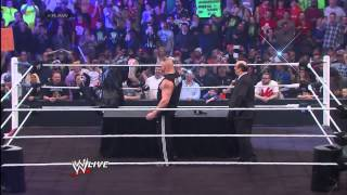 Brock Lesnar is surprised by the return of The Undertaker Raw, Feb 03, 2015