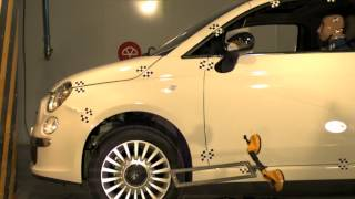 Crash test delantero Fiat 500