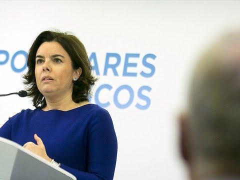 """Soraya Sáenz de Santamaría: """"Como se hace boicot a los independentistas es votando al PP el #21D"""""""