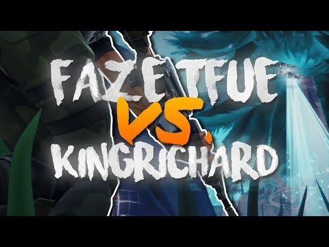 KingRichard vs FaZe Tfue - 1v1 Fight!! 17 Kill Solo Gameplay (Fortnite Battle Royale)