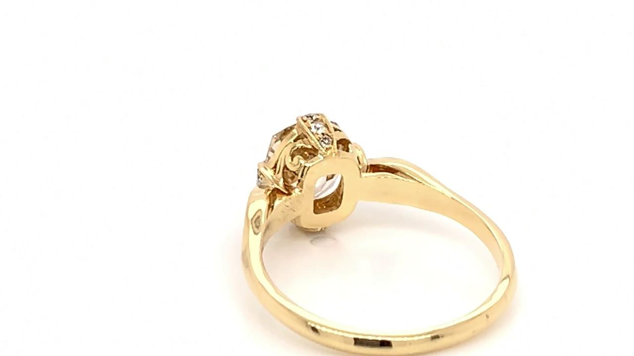 Leyla 1.63ct Antique Diamond Engagement Ring