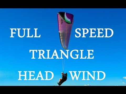 Full Speed Back To Take Off + Strong Head Wind After Triangle Flight.