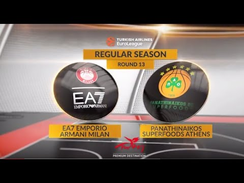 EuroLeague Highlights RS Round 13: EA7 Emporio Armani Milan 72-86 Panathinaikos Superfoods Athens