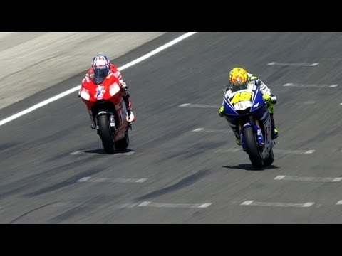 08 - It was the moment that many will say shaped their future relationship. Valentino Rossi and Casey Stoner embarked on one of the most entertaining and exciting...