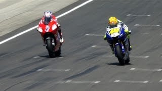 Video MotoGP Historic Battles -- Rossi vs Stoner Laguna Seca 08' MP3, 3GP, MP4, WEBM, AVI, FLV April 2018