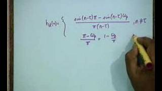 Lecture - 40 FIR Design By Windowing&Frequency Sampling