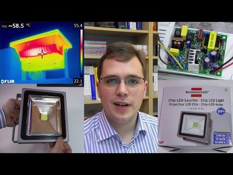 LED-Strahler im Test: Brennenstuhl Chip-LED Leuchte mit 30 Watt Leistung