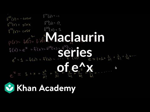 Maclaurin Series Of Eˣ Video Khan Academy