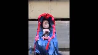 Genialny mim: dziecko w wózku