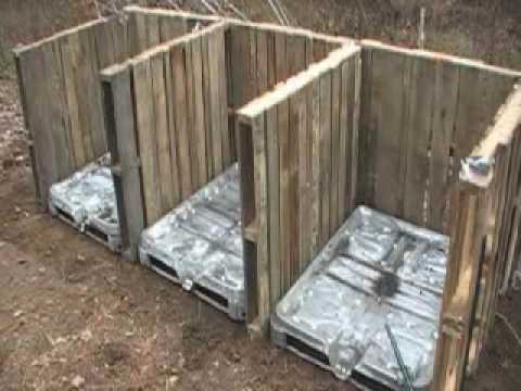 0 Compost bin made of pallets (video) in wood pallets 2  with Pallets Garden 