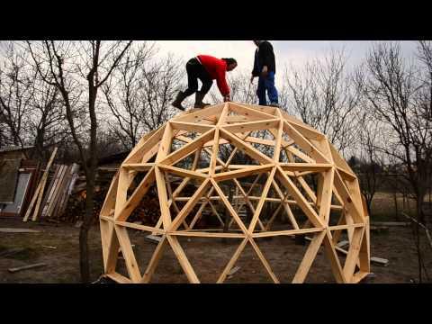 Геодезический сотовый купол своими руками 26