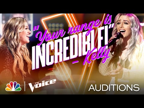 """Kelsie Watts Puts Her Own Spin on Kelly Clarkson's """"I Dare You"""" - The Voice Blind Auditions 2020"""