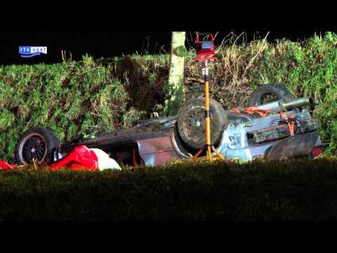 Bestuurder raakte ernstig gewond na eenzijdig ongeluk