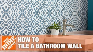 How to Tile a Bathroom Wall | The Home Depot