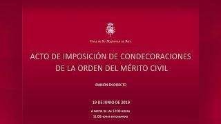 Acto de imposición de condecoraciones de la Orden del Mérito Civil