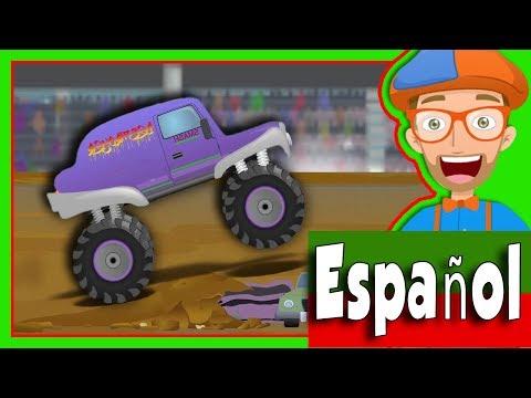 Camiones Monstruo Para Niños Con Blippi Español Canción De Los Camiones Montruo