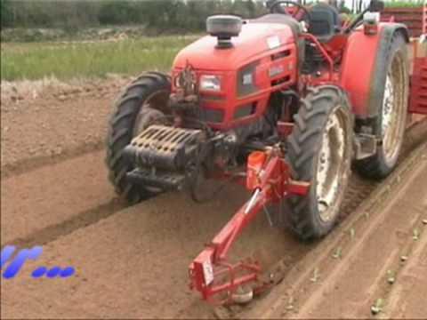 planteuse - matériel maraîchage tracteur planteuse salade guideur.