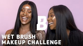 WET BRUSH MAKEUP CHALLENGE with #SOTF Mariam & Mettisse | Beauty Bay