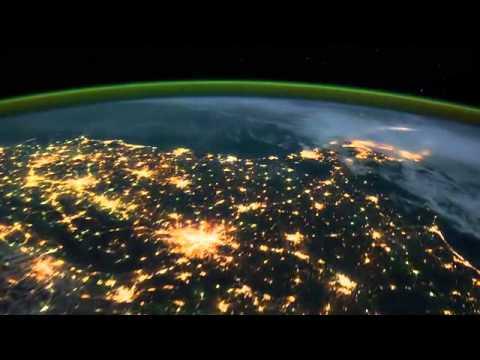Terra vista do Espaço (Vídeo volta completa). Earth View from Space, Time Lapse, NASA, ISS.