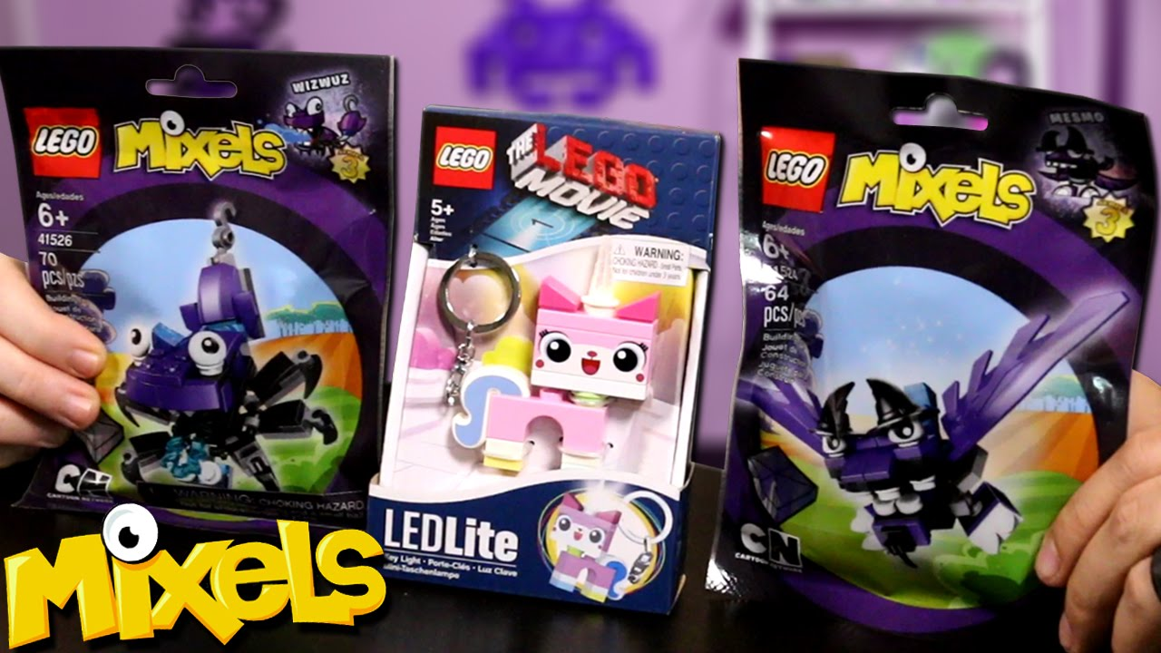 LEGO Mixels & LEGO Movie Unikitty Light Up Keychain!