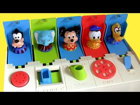 Disney Poppin' Pals Mickey Minnie Goofy Donald Daisy Pluto Dumbo Pop-Up Baby Toy Cookie Monster