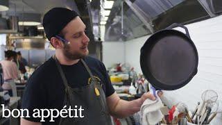 How to Clean a Cast-Iron Skillet with Brad   Bon Appétit