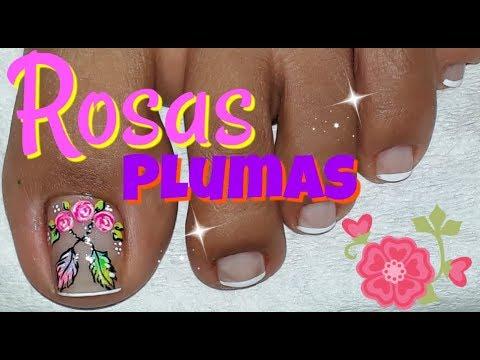 Decoracion de uñas Pies/Nail decoration Feet/Flower Nail Designs
