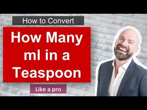 ✅ How Many ml In A Teaspoon