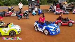 Naik Odong Odong Mobil Mobilan Anak di Pasar Rakyat - Power Wheels Ride on Car