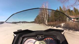 10. 124 mph lake run on Stock Ski Doo 800 Etec