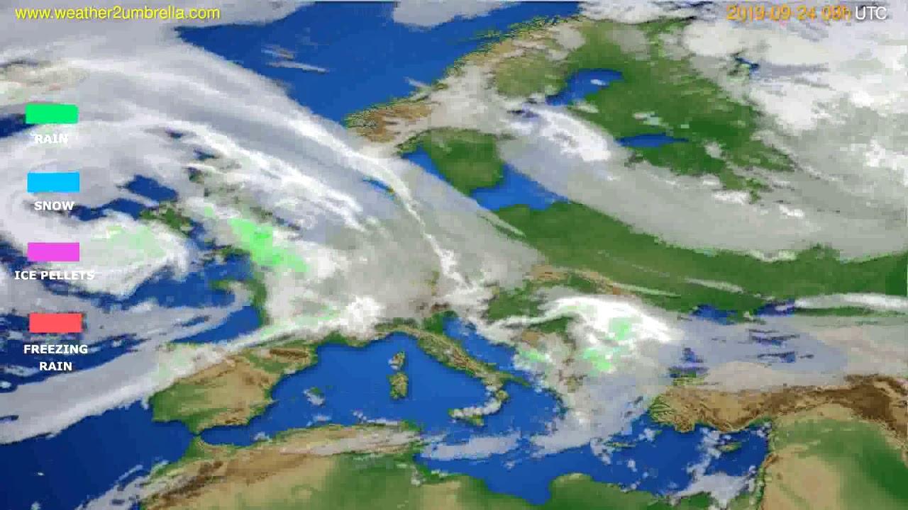 Precipitation forecast Europe // modelrun: 12h UTC 2019-09-22
