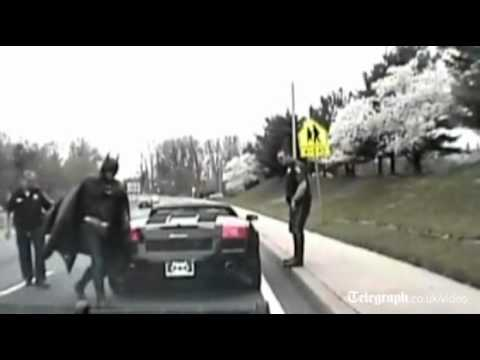 holy cow! batman pulled over by police