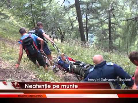 Neatenţie pe munte – VIDEO