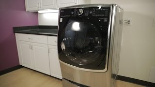 LG's stunning double washer stands tall