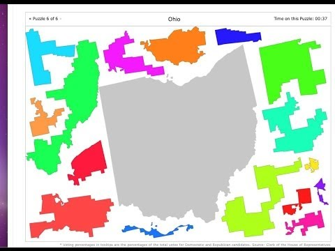 Gerrymandering Congressional Districts, OH, PA, NC, MI, MD, Ohio, Pennsylvania