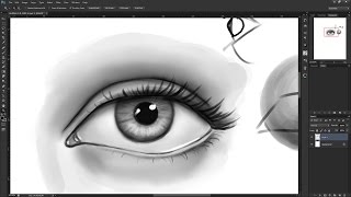How to draw a realistic eye from the front view.In this how to draw tutorial I show you how to draw an eye from the front view, more specifically, how to draw a realistic eye. I have used Photoshop CS6 to draw / paint this eye using a Wacom Cintiq 13HD graphics tablet, although the same rules apply to any medium i.e pencil and paper. I tried not to spend too long drawing the eye as I didn't want the video to go on for too long, so if you spend longer then me, your eye drawing will come out neater :)Facebook- http://facebook.com/learningasidrawDeviantart-  http://learningasidraw.deviantart.comTwitter- http://twitter.com/learningasidrawBlog- http://learningasidraw.blogspot.co.uk