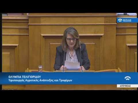 Ο.Τελιγιορίδου(Υφυπ.Αγροτικ.Ανάπτυξ.και Τροφίμων) (Κύρωση Συμφωνίας Πρεσπών)(25/01/2019)