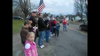 Cortland (NY) United States  City pictures : Cortland, NY - Ithaca's Fallen Marine Motorcade.AVI