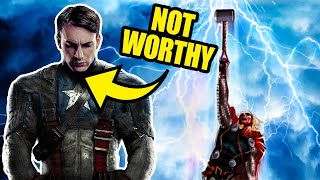 Video The Dark Reason Captain America REALLY Can't Lift Mjolnir MP3, 3GP, MP4, WEBM, AVI, FLV Desember 2018