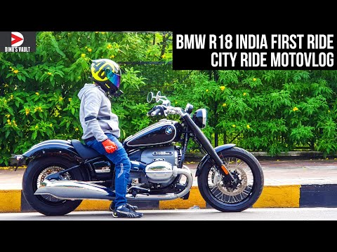 BMW R18 India First Ride Review 1800cc Boxer Beast! #Bikes@Dinos
