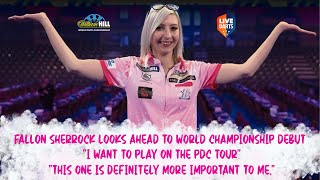 """Fallon Sherrock looks ahead to World Championship debut + """"I want to play on the PDC tour"""""""