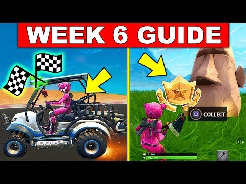 Video Fortnite WEEK 6 CHALLENGES GUIDE! – SEARCH WHERE THE STONE HEADS ARE LOOKING, COMPLETE TIMED TRIALS download in MP3, 3GP, MP4, WEBM, AVI, FLV January 2017