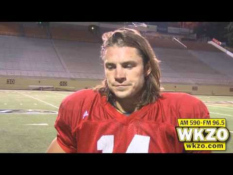 WMU Quarterback Alex Carder speaks with WKZO following practice on Monday September 10th, 2012.