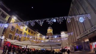 Grad Rijeka, okićen uoči Božićno-novogodišnjih blagdana. Snimljeno GoPro Hero 4 Black kamerom, testiranom na Feiyu-Tech...