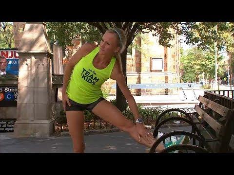 Olympian Shalane Flanagan before running the TCS NYC Marathon