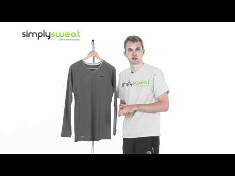 Nike Womans Pro Fitted Long Sleeve V Neck Top- www.simplysweat.com