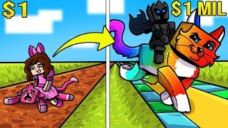 Minecraft: 1 DOLLAR CAT VS 1,000,000 DOLLAR RAINBOW CAT!!! Crafting Mini-Game by PopularMMOs