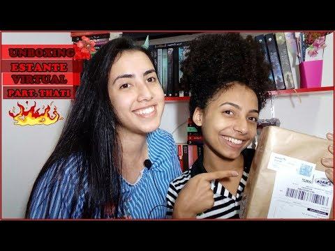 UNBOXING | Estante Virtual | Part. Thati | Leticia Ferfer | Livro Livro Meu